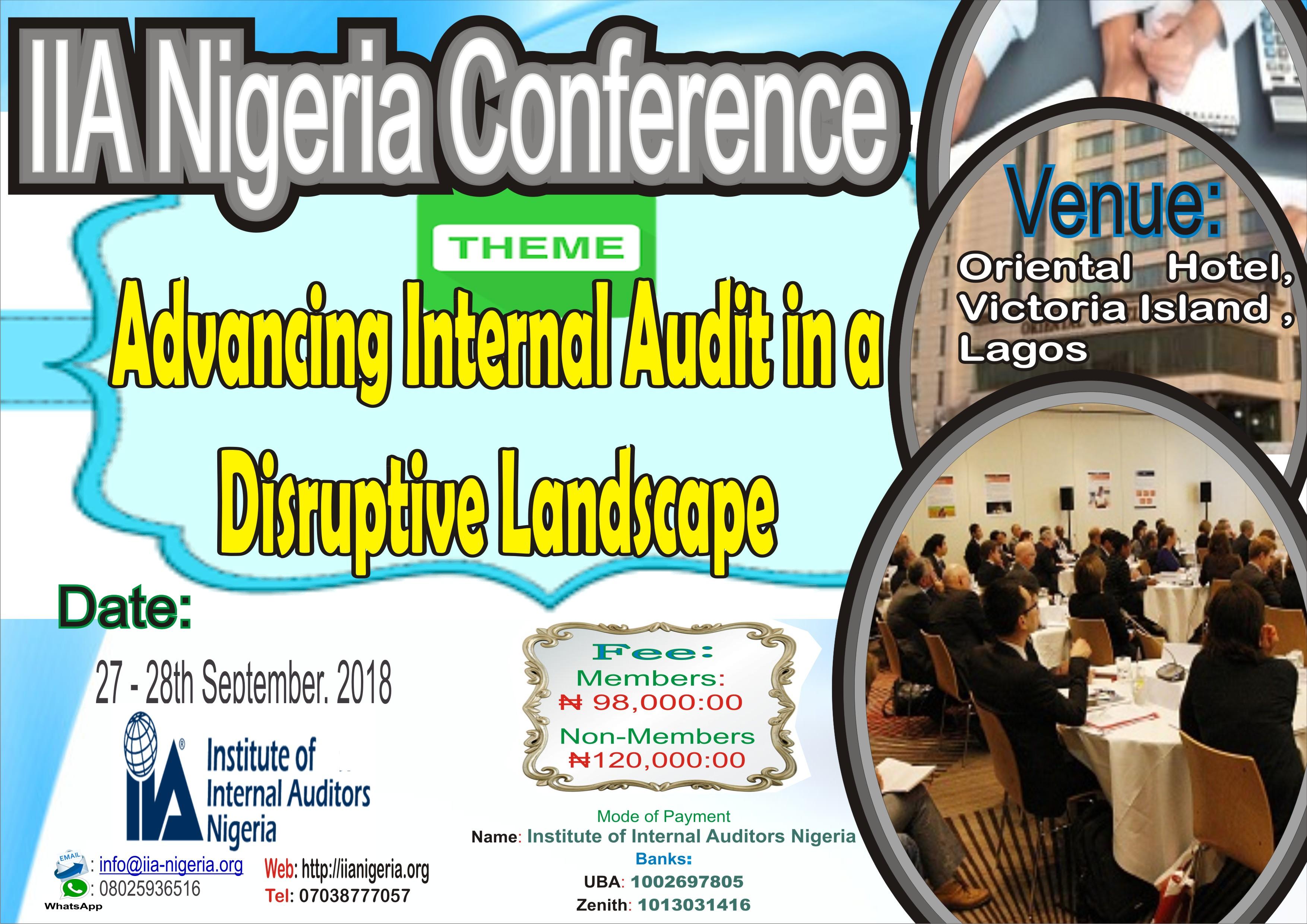 IIA Nigeria Confrence Media Bannerflyer IIA Nigeria