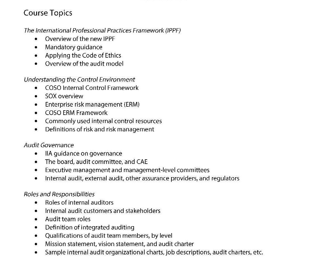 Tools And Techniques I New Internal Auditor Page 002 Institute Of Internal Auditors Iia Nigeria