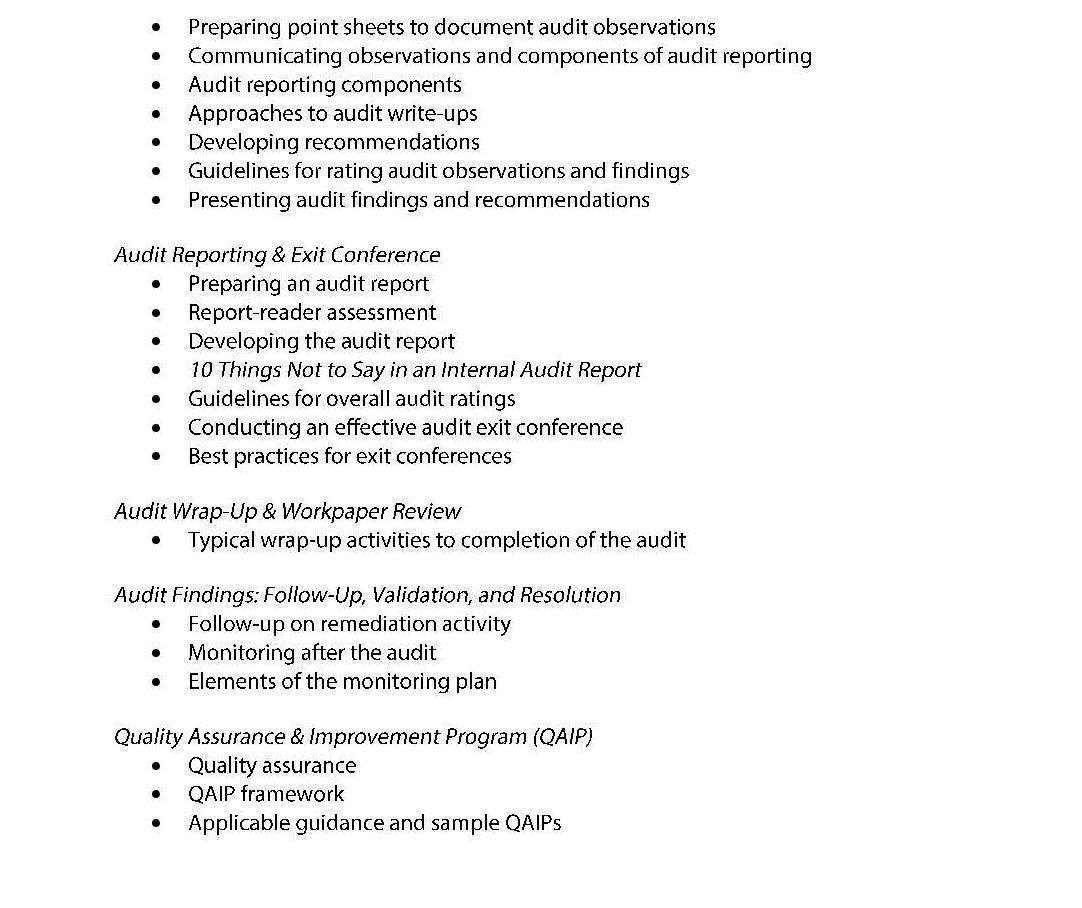 Tools And Techniques I New Internal Auditor Page 004 Institute Of Internal Auditors Iia Nigeria