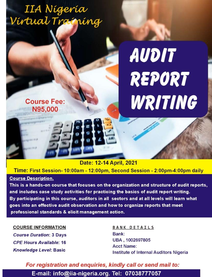Audit Report Writing
